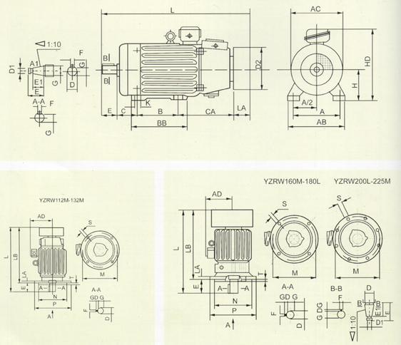 涡流制动电机接线图